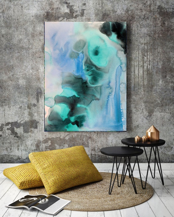 "Watercolor Symphony 13-2. Watercolor Abstract, Modern Wall Decor, Extra Large Abstract Colorful Canvas Art Print up to 72"" by Irena Orlov"