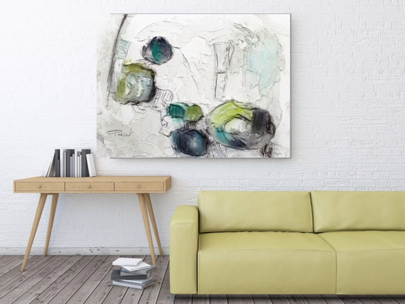 "Organic Feel. Abstract Paintings Art, Wall Decor, Extra Large Abstract Colorful Contemporary Canvas Art Print up to 72"" by Irena Orlov"