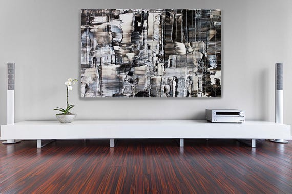 """Snow 8. Contemporary Unique Abstract Wall Decor, Large Contemporary Canvas Art Painting Print up to 72"""" by Irena Orlov"""