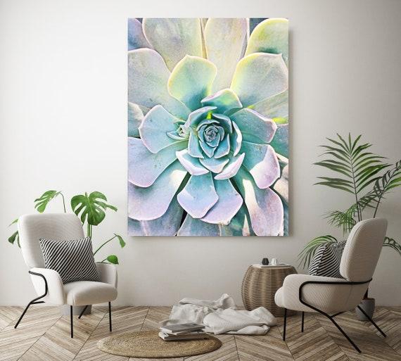 Unique Succulent, Succulent Wall Decor, Watercolor, Succulent Painting, Tropical Painting, Watercolor Painting, Tropical Canvas Print