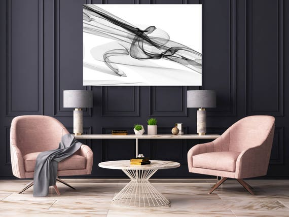 "Abstract Black and White 19-49-00. Contemporary Unique Abstract Wall Decor, Large Contemporary Canvas Art Print up to 72"" by Irena Orlov"
