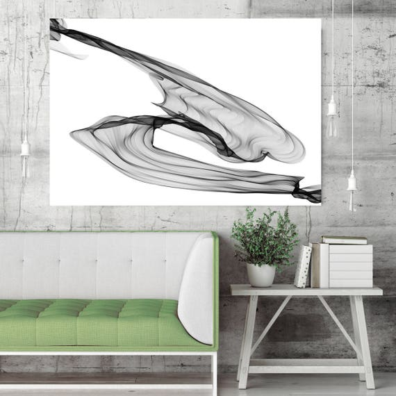 "Abstract Black and White 19-41-14. Contemporary Unique Abstract Wall Decor, Large Contemporary Canvas Art Print up to 72"" by Irena Orlov"