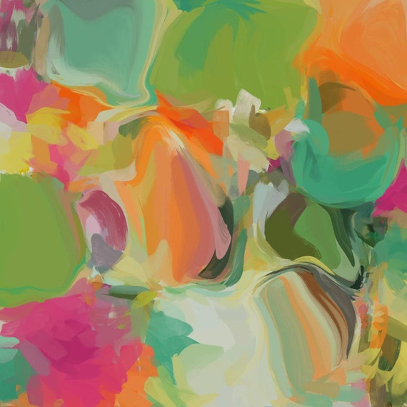 """Simply Gratitude. Abstract Paintings Art, Wall Decor, Extra Large Abstract Colorful Contemporary Canvas Art Print up to 48"""" by Irena Orlov"""