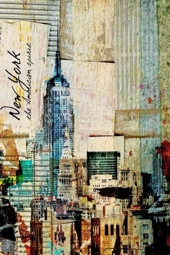 """New York. Architectural Canvas Print by Irena Orlov up to 60"""""""