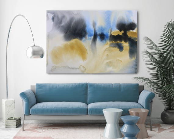"Watercolor Symphony 98. Watercolor Abstract, Modern Wall Decor, Extra Large Abstract Colorful Canvas Art Print up to 72"" by Irena Orlov"