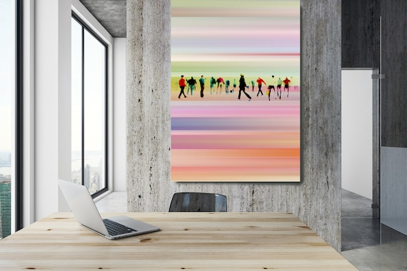"Going To Work 5,  Art for Your Office, Office Wall Art, Pink Corporate Office Decor, Extra Large Canvas Art Print up to 72"" by  Irena Orlov"