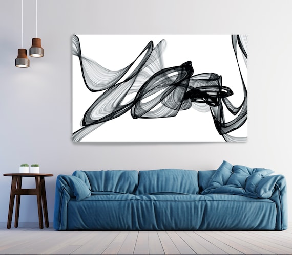 So you say, Abstract Black and White, Contemporary Canvas Art Print, Minimalist Art, Minimalist Painting Canvas Print, New Media Wall Art