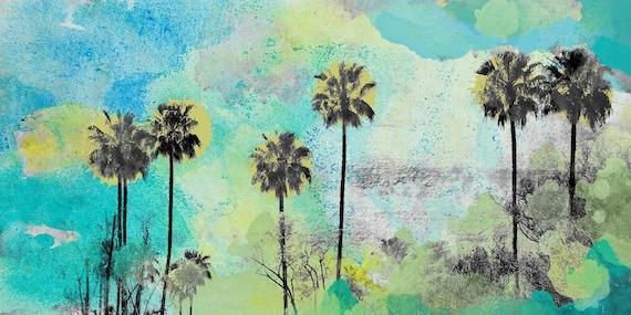 "Malibu. California. Palm trees Canvas Print by Irena Orlov Large canvas up to 60"""
