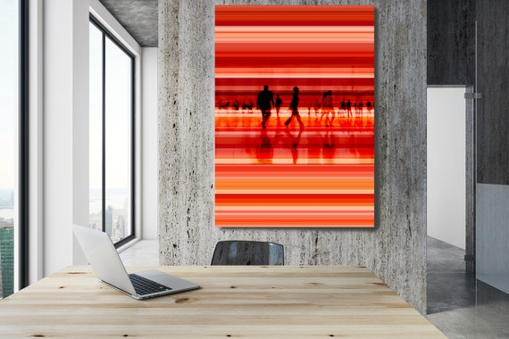 "Going To Work 2,  Art for Your Office, Office Wall Art, Red Corporate Office Decor, Extra Large Canvas Art Print up to 72"" by  Irena Orlov"