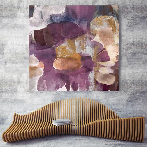 "Purple Gold Mix 2. Abstract Paintings Art, Wall Decor, Extra Large Abstract Colorful Contemporary Canvas Art Print up to 48"" by Irena Orlov"