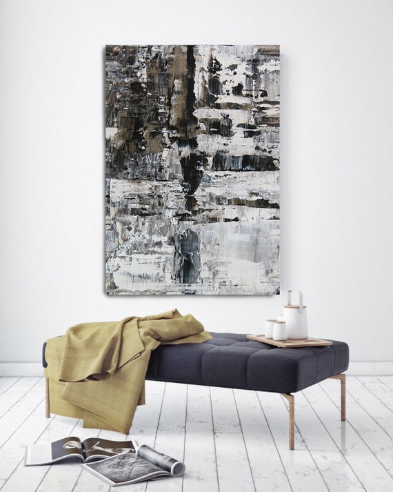 "Snow 7. Contemporary Unique Abstract Wall Decor, Large Contemporary Canvas Art Painting Print up to 72"" by Irena Orlov"