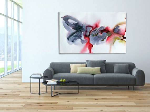 """In my dreams 1-1. Watercolor Abstract, Modern Wall Decor, Large Abstract Colorful Contemporary Canvas Art Print up to 72"""" by Irena Orlov"""