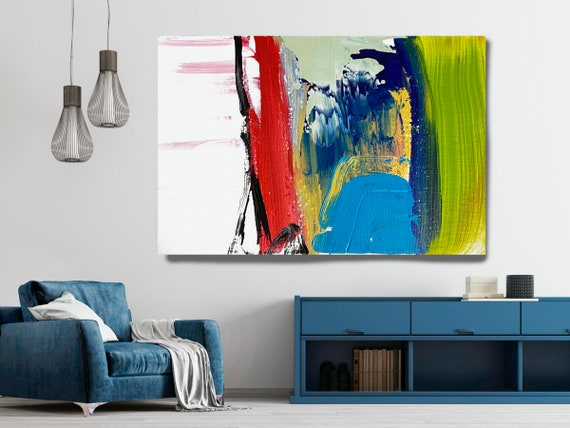 Joyful Modernist Abstraction 2, Abstract Painting Modern Art Abstract Painting Extra Large Painting Extra Large Abstract Canvas Print