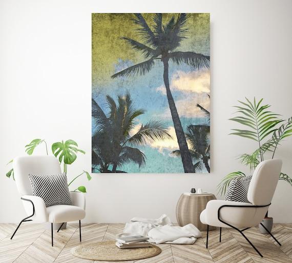 California Palms. Palm wall art Palm decor Palm canvas art Print Palm trees wall art Palm canvas, California, home decor, beach, Palms