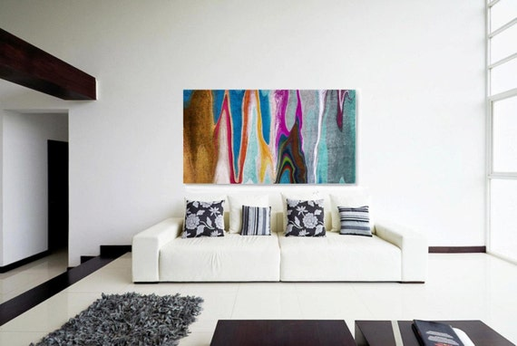 "4599X9 Abstract Rhythms NO 36. Abstract Paintings Art, Wall Decor, Extra Large Abstract Colorful Canvas Art Print up to 72"" by Irena Orlov"