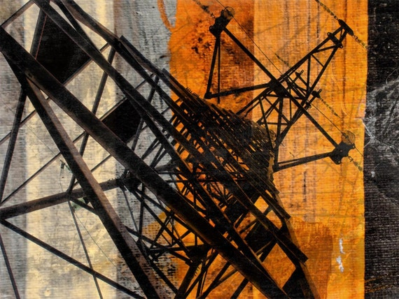 High-voltage tower. Canvas Print by Irena Orlov