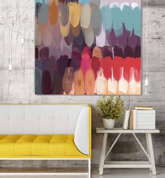 "A new day. Geometrical Abstract Art, Wall Decor, Extra Large Abstract Colorful Contemporary Canvas Art Print up to 48"" by Irena Orlov"