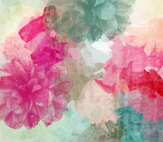 "Sheer Passion. Floral Painting, Pink Abstract Art, Wall Decor Large Abstract Colorful Contemporary Canvas Art Print up to 72"" by Irena Orlov"