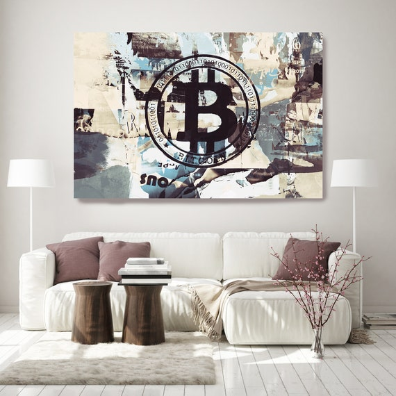 Cryptocurrency Bitcoin Graffiti Art 2, Cryptocurrency Bitcoin  Artwork, Motivational office art,  Bitcoin Canvas Print, Cryptocurrency Gifts
