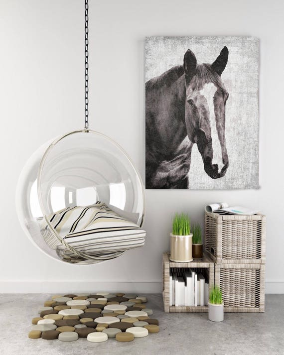 "Horse Beautiful Brown Horse. Extra Large Horse, Unique Horse Wall Decor, Brown Rustic Horse, Large Canvas Art Print up to 72"" by Irena Orlov"