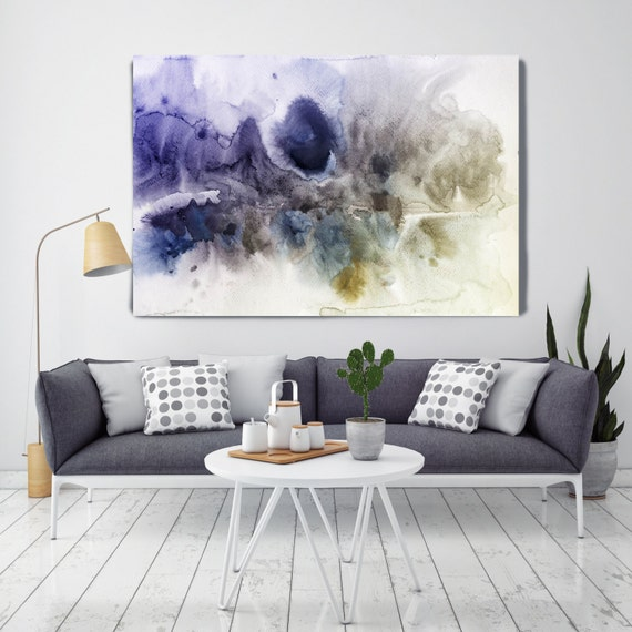 "ORL-7946-2 A kind of Magic. Watercolor Abstract, Modern Wall Decor, Extra Large Abstract Colorful Canvas Art Print up to 72"" by Irena Orlov"