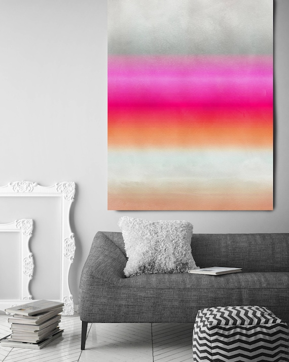 """Inspired by Rothko 25. Pink Gray Watercolor Abstract, Modern Wall Decor, Large Abstract Colorful Canvas Art Print up to 72"""" by Irena Orlov"""