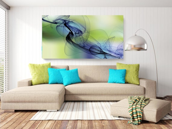 "The Invisible World-Movement 2. Abstract New Media Art, Wall Decor, Extra Large Abstract  Canvas Art Print up to 72"" by Irena Orlov"