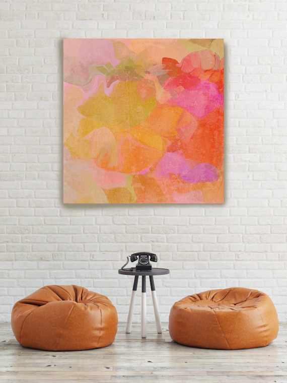 """ORL-6907-1 Mix of Colors. Abstract Paintings Art, Wall Decor, Large Abstract Colorful Contemporary Canvas Art Print up to 48"""" by Irena Orlov"""