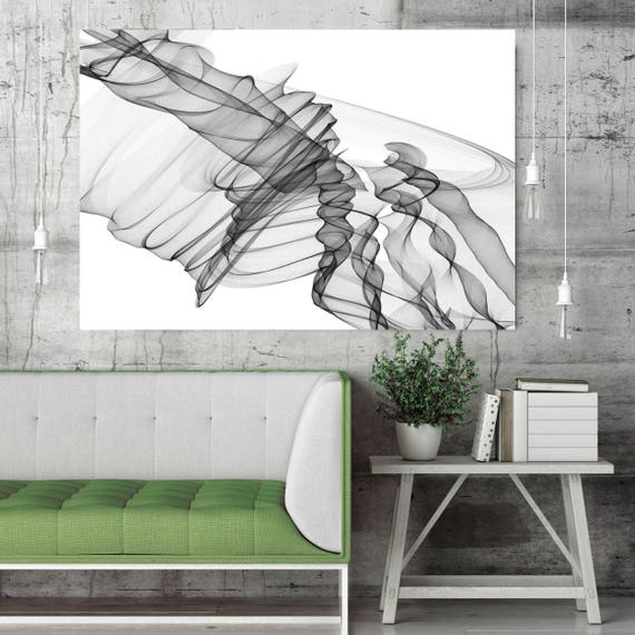 "Abstract Black and White 19-22-36. Contemporary Unique Abstract Wall Decor, Large Contemporary Canvas Art Print up to 72"" by Irena Orlov"