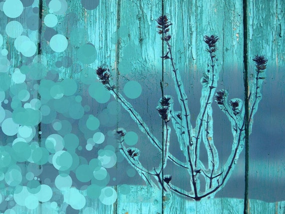 "Frozen. Floral Painting, Blue Green Abstract Art, Wall Decor, Large Abstract Colorful Contemporary Canvas Art Print up to 72"" by Irena Orlov"