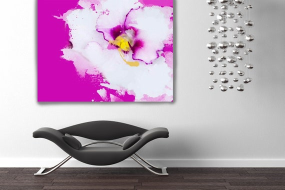 "Shades of pink. Floral Painting, Pink White Abstract Art, Large Abstract Colorful Contemporary Canvas Art Print up to 72"" by Irena Orlov"