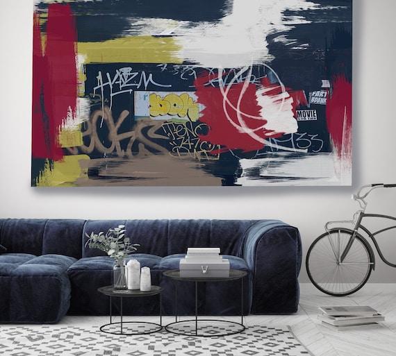 Great Advances, Street Art, Graffiti Art Print, Wall Decor, Graffiti on canvas Street Art Painting Print on Canvas Graffiti Canvas Art Print