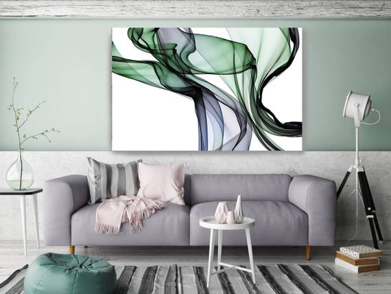"The Invisible World-Movement15_35_54, Abstract New Media Art, Wall Decor, Extra Large Abstract  Canvas Art Print up to 72"" by Irena Orlov"