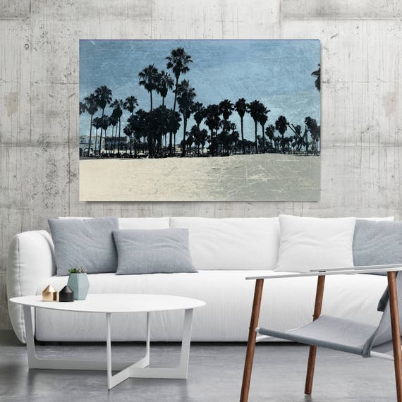 "Afternoon at Venice Beach 1. Extra Large Architectural Canvas Art Print. Rustic Brown URBAN Canvas Art Print up to 72"" by Irena Orlov"