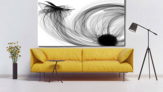 "Abstract Black and White 18-06-36. Contemporary Unique Abstract Wall Decor, Large Contemporary Canvas Art Print up to 72"" by Irena Orlov"