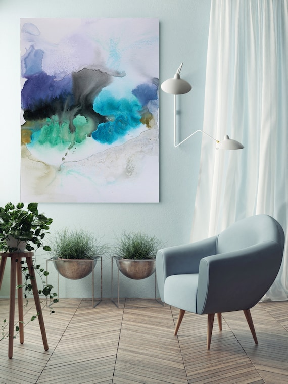 "Watercolor Symphony 1. Watercolor Abstract, Wall Decor, Extra Large Abstract Colorful Contemporary Canvas Art Print up to 72"" by Irena Orlov"