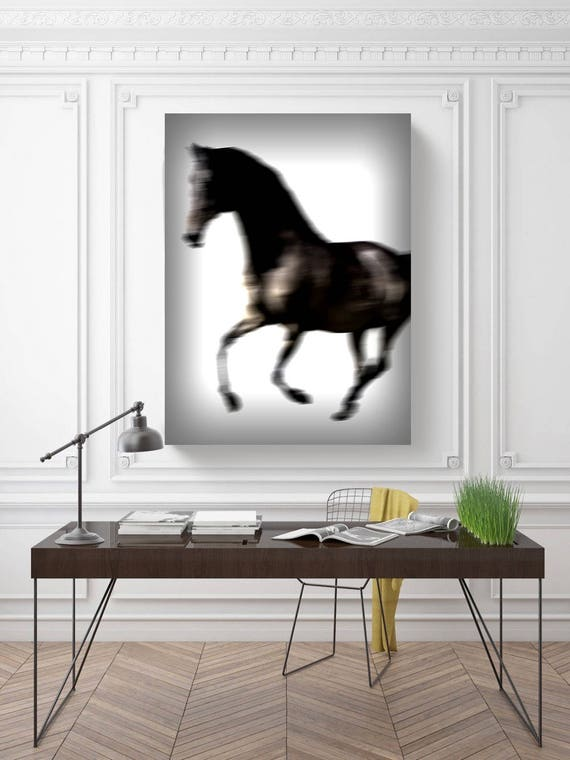 "Blur Horse 21. Extra Large Horse Wall Decor, Brown Contemporary Horse, Large Contemporary Canvas Art Print up to 72"" by Irena Orlov"