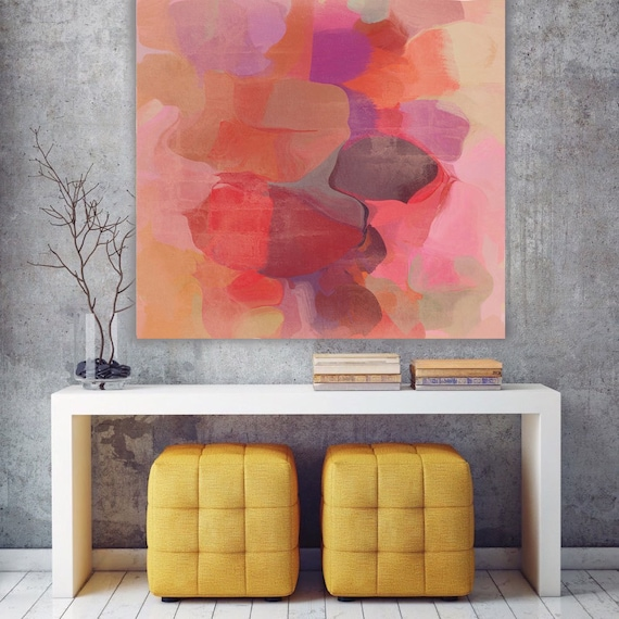"""ORL-6912-5 Mix of Colors 4. Abstract Paintings Art, Wall Decor, Extra Large Abstract Colorful Canvas Art Print up to 48"""" by Irena Orlov"""