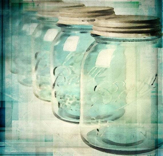 Ball Mason Jars Art.  Canvas Print by Irena Orlov