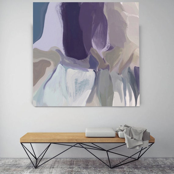 """Mixed Feelings 4. Original Oil Painting on Canvas Contemporary Abstract Purple, Teal, Gray Trend Color Oil Painting up to 50"""" by Irena Orlov"""
