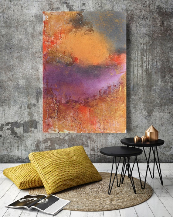 """ORL-6935-1 Vibrant hues 1. Abstract Paintings Art, Wall Decor Large Abstract Colorful Contemporary Canvas Art Print up to 72"""" by Irena Orlov"""
