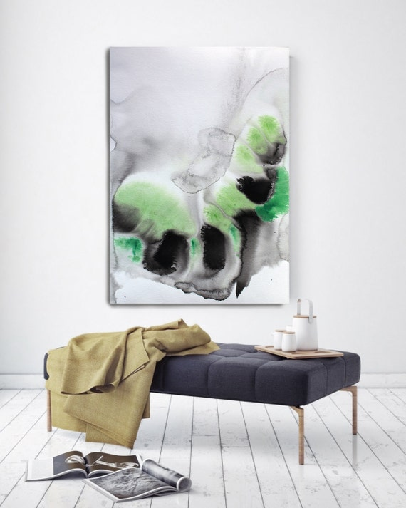 "Watercolor Symphony 6. Watercolor Abstract, Modern Wall Decor, Extra Large Abstract Colorful Canvas Art Print up to 72"" by Irena Orlov"