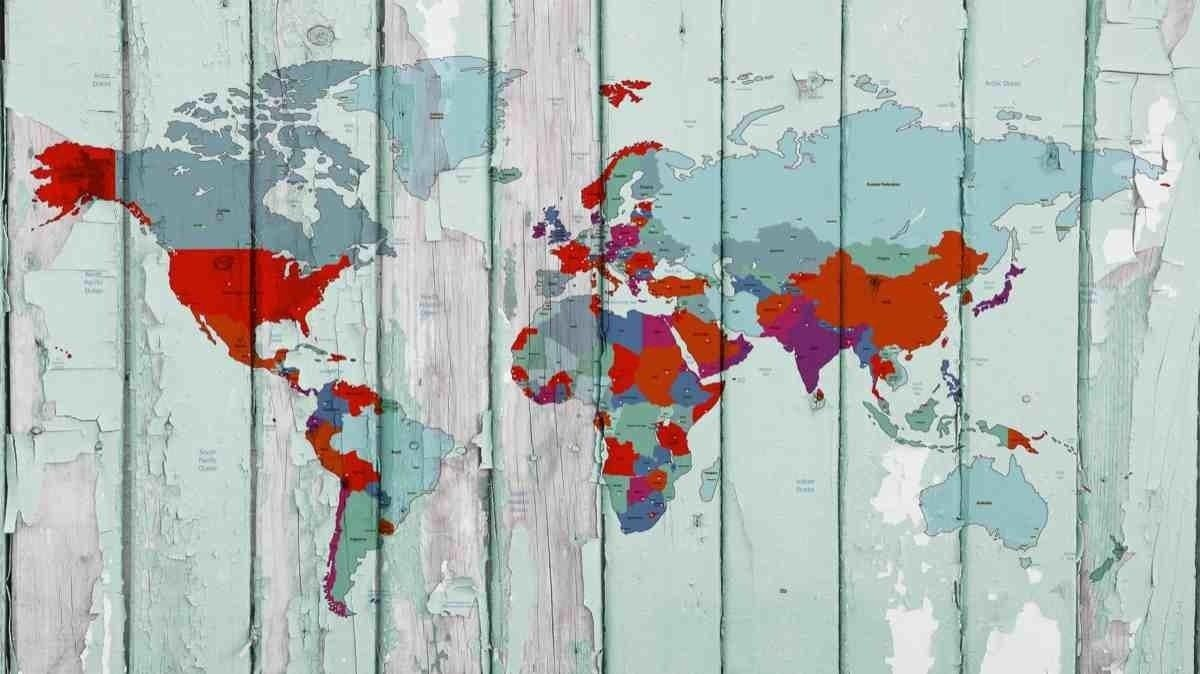 World map on wooden planks iii vintage world map large canvas wall world map on wooden planks iii vintage world map large canvas wall art for home home decor map canvas print wall decor by irena orlov gumiabroncs Image collections