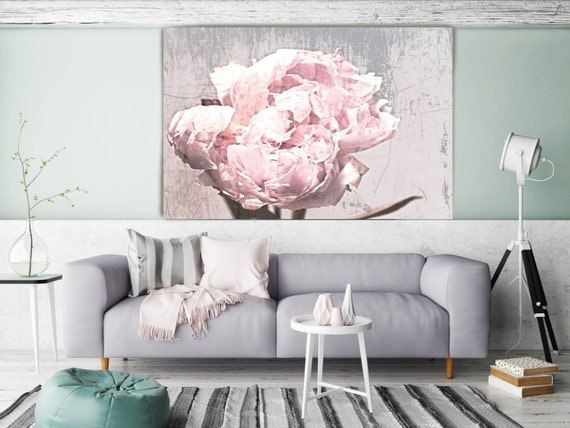 "Shabby Floral. Floral Painting, Pink Abstract Art, Wall Decor Large Abstract Colorful Contemporary Canvas Art Print up to 72"" by Irena Orlov"