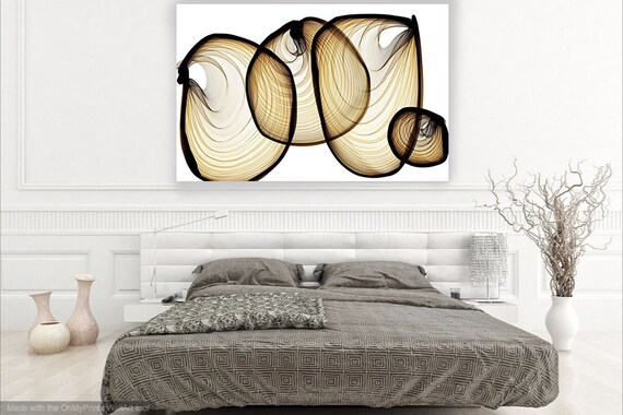 "ORL-7268 Inspiring moments 3 Extra Large Urban Abstract Canvas Art Print, Black Yellow Abstract Wall Art up to 80"" by Irena Orlov"