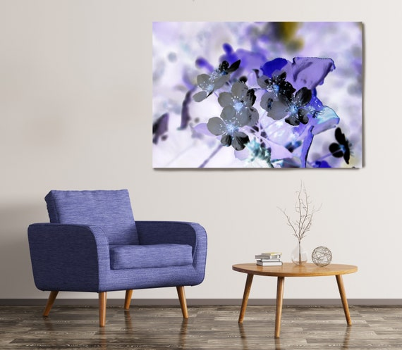 The Joy of Spring. Floral Painting, Purple Floral Artwork, Purple Flowers Canvas Print, Purple Flowers Wall Decor