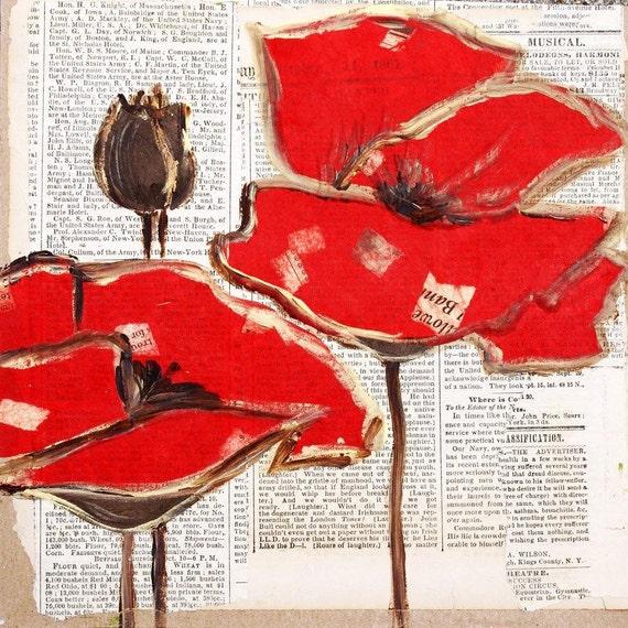 "Poppies. Canvas Print by Irena Orlov 30x30"""