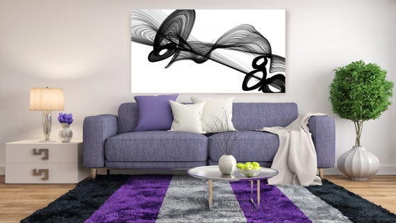 "Industrial Abstract in Black and White 2015-1. Unique Abstract Wall Decor, Large Contemporary Canvas Art Print up to 72"" by Irena Orlov"