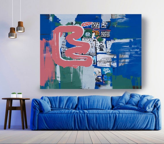 Close Connections, Street Art, Graffiti Wall Art Street Art Painting Print on Canvas, Large Canvas Print, Graffiti Canvas Wall Art