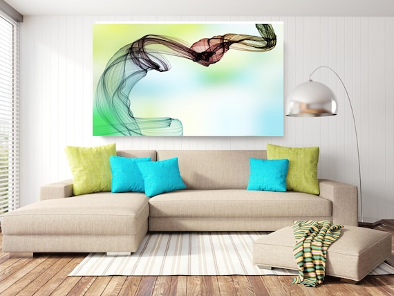 "The Invisible World-Movement 18, Abstract New Media Art, Wall Decor, Extra Large Abstract  Canvas Art Print up to 72"" by Irena Orlov"